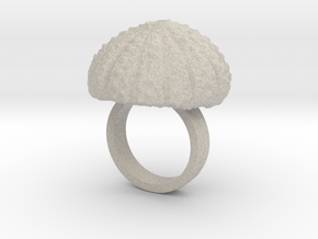 Urchin Statement Ring - US-Size 5 (15.7 mm) in Natural Sandstone