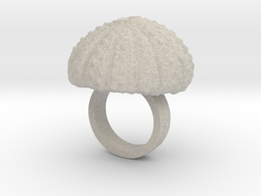 Urchin Statement Ring - US-Size 2 1/2 (13.61 mm) in Natural Sandstone