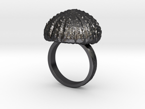 Urchin Statement Ring - US-Size 10 (19.84 mm) in Polished and Bronzed Black Steel