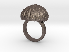 Urchin Statement Ring - US-Size 9 (18.89 mm) in Polished Bronzed Silver Steel
