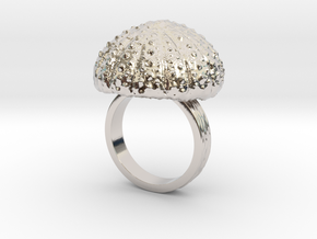 Urchin Statement Ring - US-Size 8 1/2 (18.53 mm) in Rhodium Plated Brass