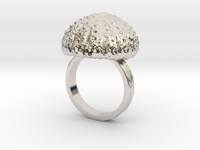 Urchin Statement Ring - US-Size 11 (20.68 mm) in Rhodium Plated Brass