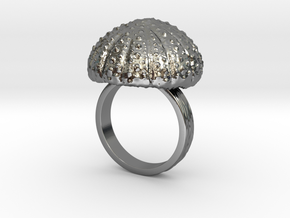 Urchin Statement Ring - US-Size 10 (19.84 mm) in Fine Detail Polished Silver