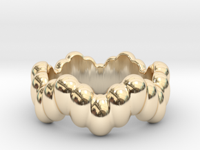 Biological Ring 18 - Italian Size 18 in 14k Gold Plated Brass