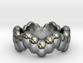 Biological Ring 24 - Italian Size 24 in Fine Detail Polished Silver