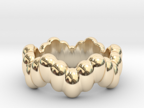 Biological Ring 31 - Italian Size 31 in 14k Gold Plated Brass