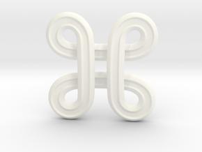 Star Symbol in White Processed Versatile Plastic