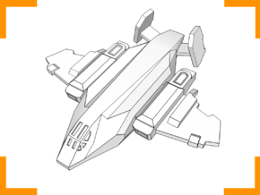 ''Vulture'' Assault Fighter 6mm in White Natural Versatile Plastic