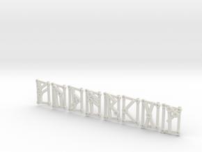 1st Aett - Futhark Nordic Rune Stones - 1 of 4 in White Strong & Flexible