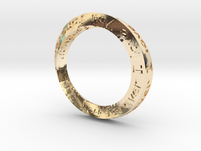 """Mobius ring """"I Love You Forever"""" Size 12 in 14K Yellow Gold"""