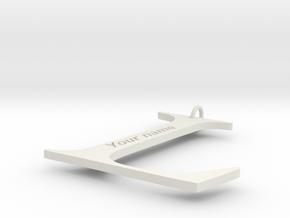 L in White Natural Versatile Plastic