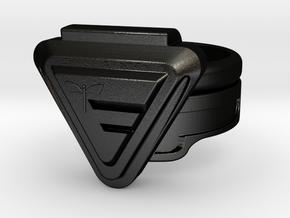 Doctor Evil Ring Size 10.25, 20.2mm in Matte Black Steel