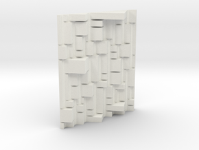 Mondrian 3D exploration. in White Natural Versatile Plastic