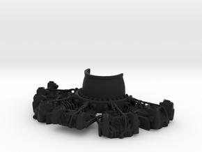 RC Faux Radial Engine _ Bottom in Black Natural Versatile Plastic