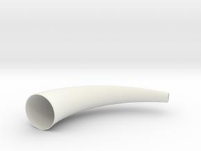 Horn V2 in White Natural Versatile Plastic