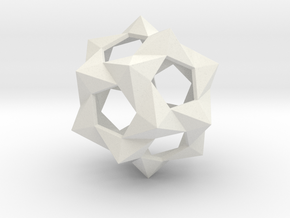 Medium Bucky Ball in White Natural Versatile Plastic
