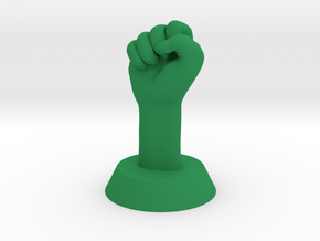 Revolution Fist in Green Strong & Flexible Polished