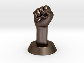 Revolution Fist in Polished Bronze Steel