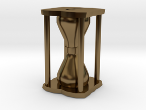 Number Hourglass Token in Polished Bronze