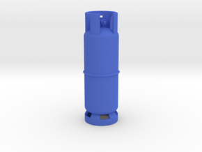 1/10 Scale LPG gas tank M1 in Blue Processed Versatile Plastic