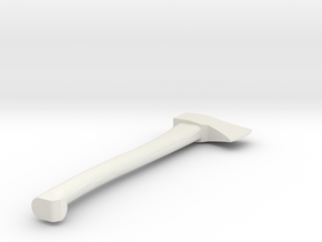 1/10 Scale Axe in White Natural Versatile Plastic