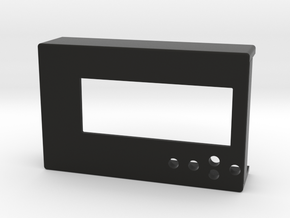 RPI LCD Cover Top in Black Natural Versatile Plastic