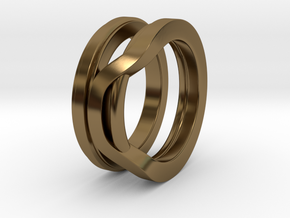 Balem's Ring1 - US-Size 7 (17.35 mm) in Polished Bronze