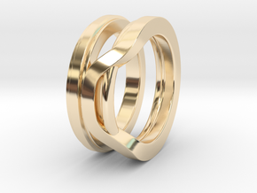Balem's Ring1 - US-Size 4 (14.86 mm) in 14k Gold Plated Brass