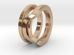 Balem's Ring1 - US-Size 11 (20.68 mm) in 14k Rose Gold Plated Brass