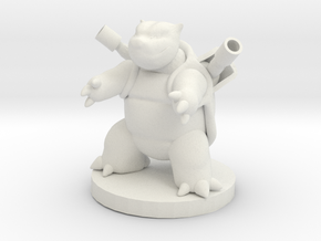 Blastoise Pokemon in White Natural Versatile Plastic