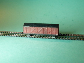Boxcar / Güterwagen Set of 4  1/285 6mm in Smooth Fine Detail Plastic
