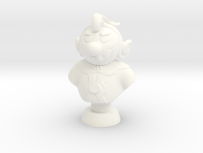 Rembrandt comic character bust in White Processed Versatile Plastic