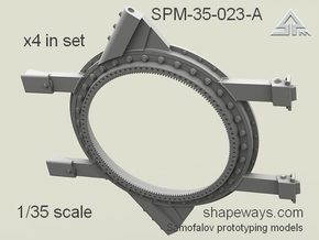 1/35 SPM-35-023A Humvee turret ring, x4 in set in Smoothest Fine Detail Plastic