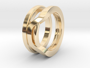 Balem's Ring1 - US-Size 10 (19.84 mm) in 14k Gold Plated Brass