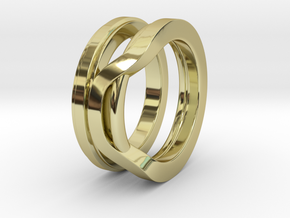 Balem's Ring1 - US-Size 10 1/2 (20.20 mm) in 18k Gold Plated Brass