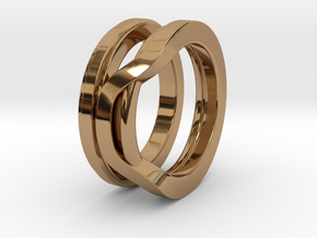 Balem's Ring1 - US-Size 10 1/2 (20.20 mm) in Polished Brass
