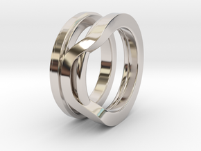 Balem's Ring1 - US-Size 10 1/2 (20.20 mm) in Rhodium Plated Brass