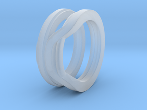 Balem's Ring1 - US-Size 8 1/2 (18.53 mm) in Smooth Fine Detail Plastic