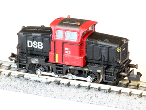 DSB MH in 1:160 N scale in Smoothest Fine Detail Plastic