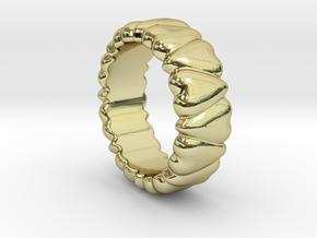 Ring Heart To Heart 14 - Italian Size 14 in 18k Gold