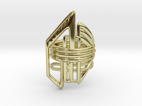 Balem's Ring2 - US-Size 7 (17.35 mm) in 18k Gold Plated Brass