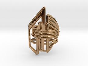 Balem's Ring2 - US-Size 5 1/2 (16.10 mm) in Polished Brass