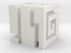 BIONICLE Nuva Cube in White Natural Versatile Plastic