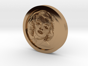 Marilyn Monroe Coin in Polished Brass
