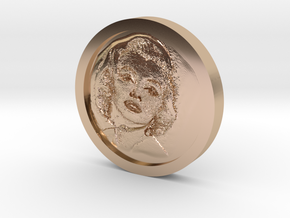 Marilyn Monroe Coin in 14k Rose Gold Plated Brass