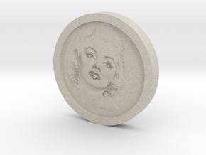Marilyn Monroe Coin in Natural Sandstone