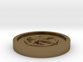 The hunger games Coin in Polished Bronze