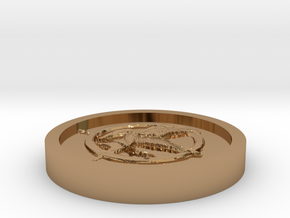 The hunger games Coin in Polished Brass
