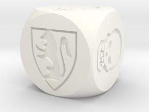 HeroQuest Die (13mm) in White Processed Versatile Plastic