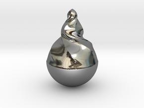 Tear2 in Fine Detail Polished Silver